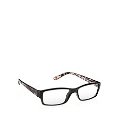 2WO.OPTICS - Black square plastic frame tinted reading glasses