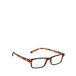 2WO.OPTICS - Brown plastic tortoiseshell frame tinted reading glasses