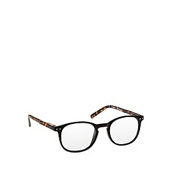 2WO.OPTICS - Brown tortoiseshell round plastic frame tinted reading glasses