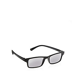 2WO.OPTICS - Black rectangular frame tinted reading glasses