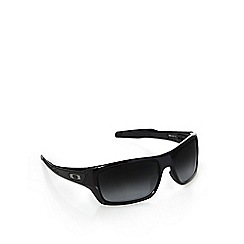 Oakley - Black logo arm wrap-around sunglasses