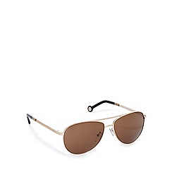 Carolina Herrera - Rose gold aviator style sunglasses