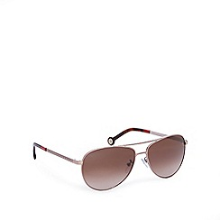 Carolina Herrera - Brown aviator style sunglasses