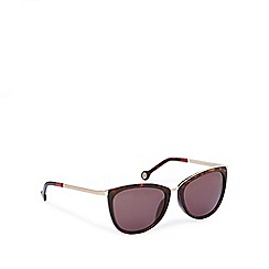 Carolina Herrera - Brown tortoiseshell D-frame sunglasses