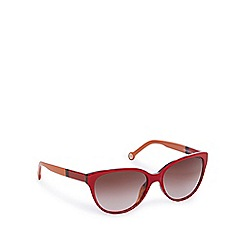 Carolina Herrera - Red round cat eye sunglasses