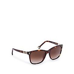 Carolina Herrera - Brown tortoiseshell oversize square sunglasses