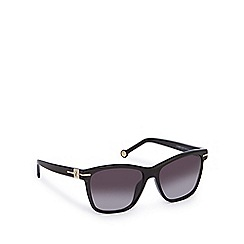 Carolina Herrera - Black oversize square sunglasses