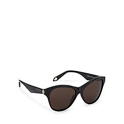 Givenchy - Brown tinted logo arm cat eye sunglasses