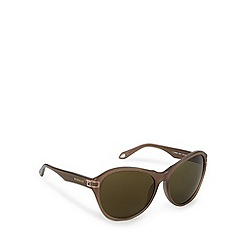 Givenchy - Green tinted logo arm round sunglasses