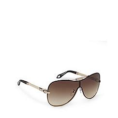 Givenchy - Brown tinted logo arm rimless visor sunglasses