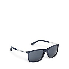 Emporio Armani - Navy and silver D-frame sunglasses