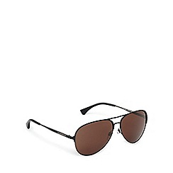 Emporio Armani - Black and brown aviator sunglasses