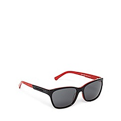 Emporio Armani - Black and red D-frame sunglasses