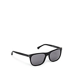 Emporio Armani - Black and blue D-frame sunglasses