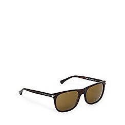 Emporio Armani - Grey and yellow tortoiseshell D-frame sunglasses