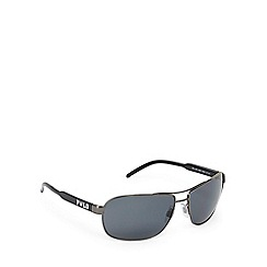 Ralph Lauren Polo - Black and grey polarised aviator sunglasses