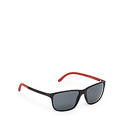 Ralph Lauren Polo - Black and red polarised D-frame sunglasses