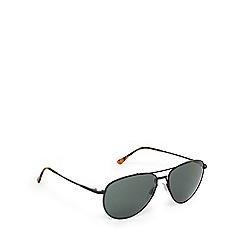 Ralph Lauren Polo - Black and green aviator sunglasses