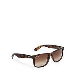 Ray-Ban - Brown plastic wayfarer sunglasses