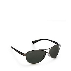 Ray-Ban - Green tinted wrap-around aviator sunglasses