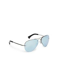 Ray-Ban - Silver tinted rimless aviator sunglasses