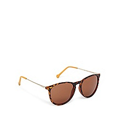 Converse - Brown tortoiseshell D-frame sunglasses
