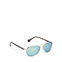 Converse - Gold and blue aviator sunglasses
