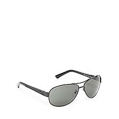 Police - Black wrap-around aviator sunglasses
