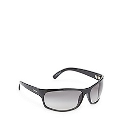 Police - Black wrap-around rectangle sunglasses