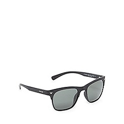 Police - Black wood-effect square sunglasses