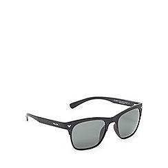 Police - Black wood-effect square sunglasses