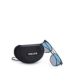 Police - Navy and blue polarised square sunglasses