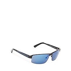 Police - Blue semi rimless sunglasses