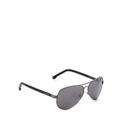 Lacoste - Silver tinted aviator sunglasses