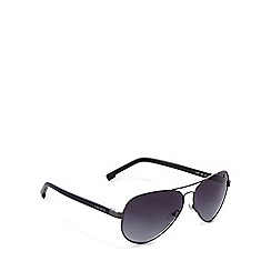 Lacoste - Grey tinted aviator sunglasses