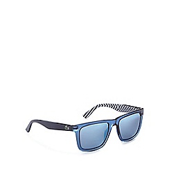 Lacoste - Blue tinted chevron striped print sunglasses
