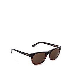 Lacoste - Brown tortoise shell square sunglasses