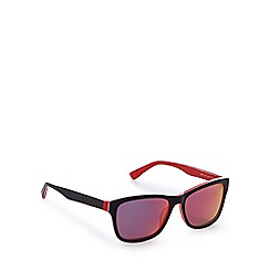 Lacoste - Red and black D-frame sunglasses
