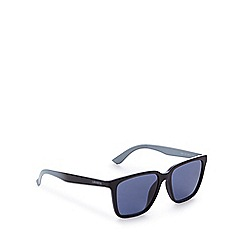 Lacoste - Blue chevron striped print sunglasses