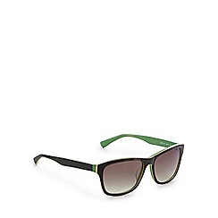 Lacoste - Green and yellow D-frame sunglasses