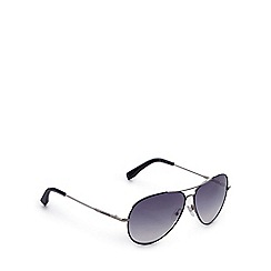Lacoste - Blue tinted round aviator sunglasses