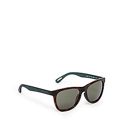 Ted Baker - Brown tortoiseshell and green D-frame sunglasses