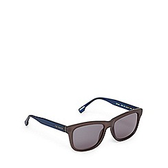 Ted Baker - Grey and navy D-frame sunglasses