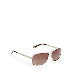 Ted Baker - Silver and brown aviator sunglasses