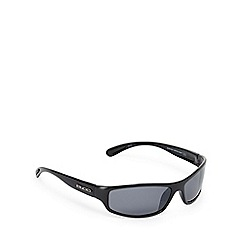 Bloc - Black and grey polarised D-frame sunglasses