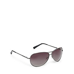 Bloc - Silver and green aviator sunglasses