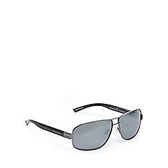 Bloc - Dark grey tinted rectangle sunglasses