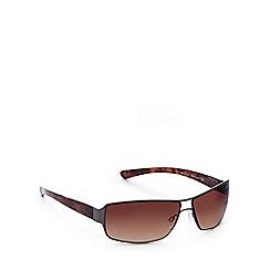 Bloc - Brown rectangle wrap around sunglasses