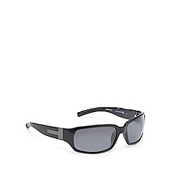 Bloc - Black tinted polarised rectangle sunglasses