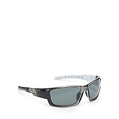 Bloc - Green tinted polarised rectangle sunglasses